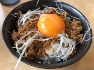 ひき肉味噌丼