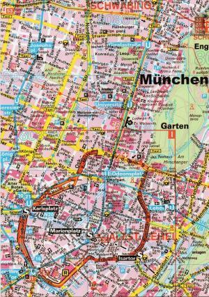ミュンヘンの地図
