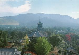 興福寺と春日山