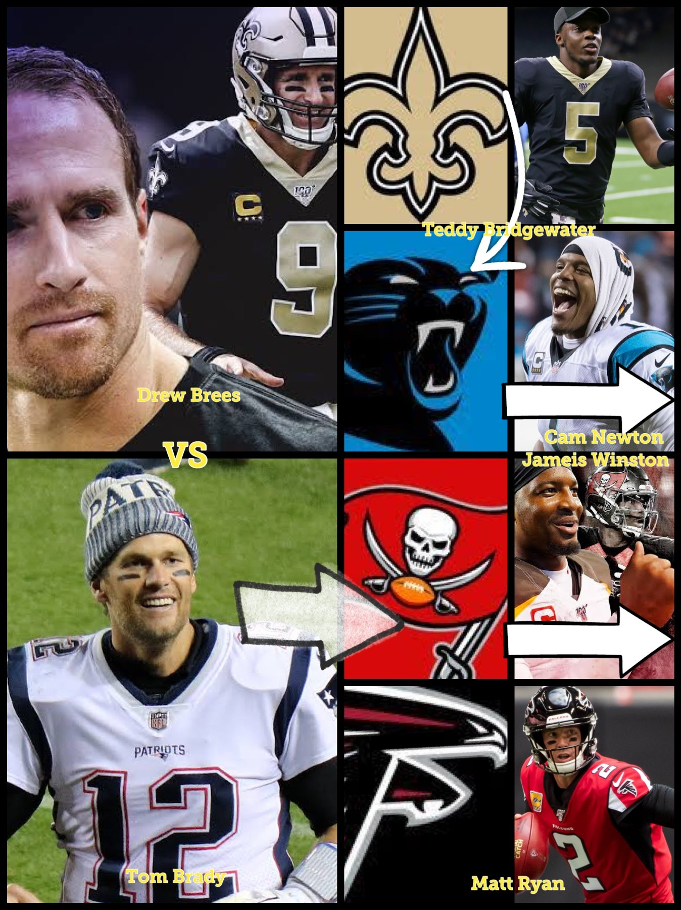 NFL exiting NFC South division 2020 QB