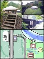 秋川渓谷「keikoku GLANPING tent 」手製レイアウト図 map