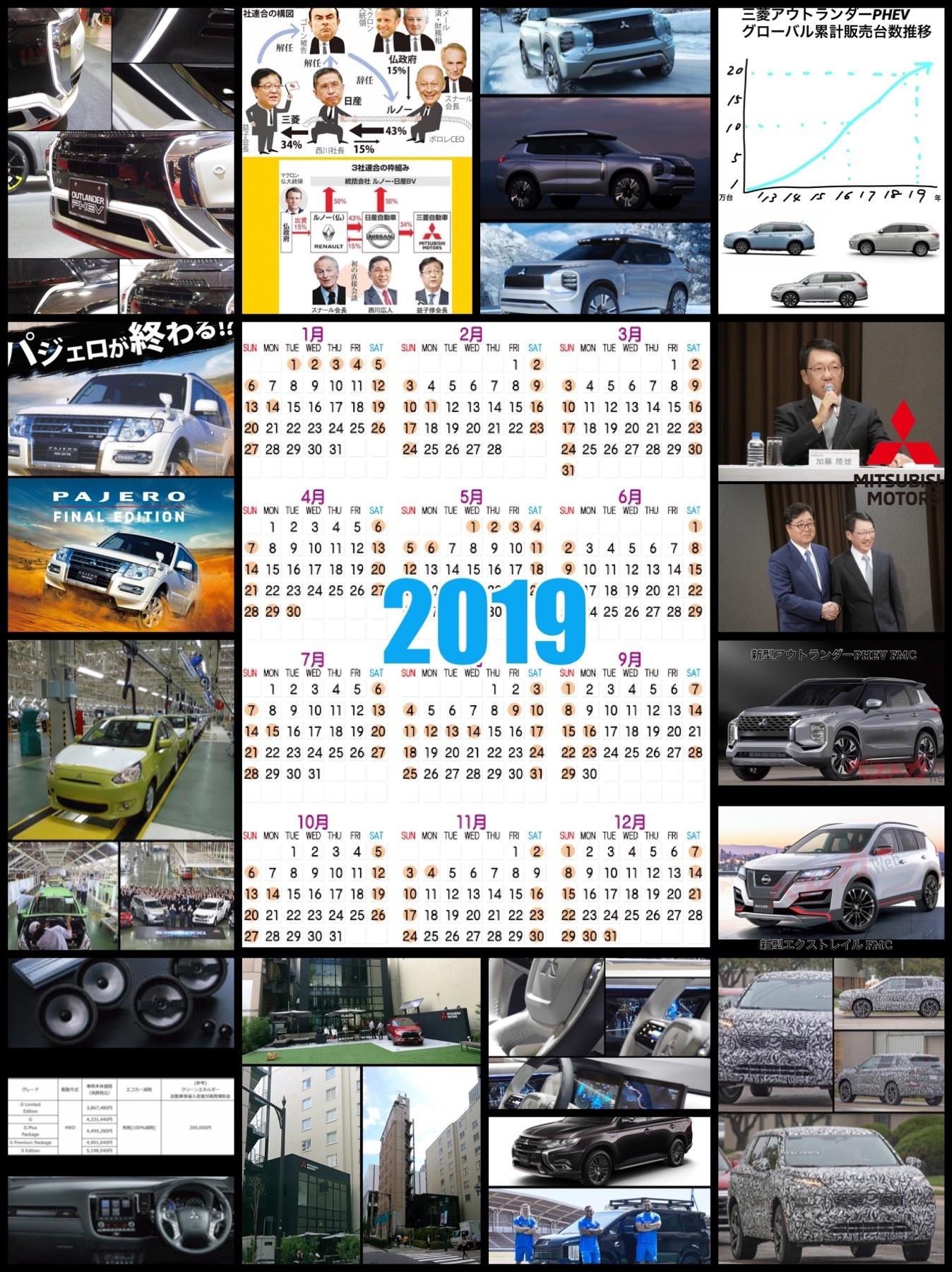 三菱アウトランダーPHEVに関する1年を振り返る2019年
