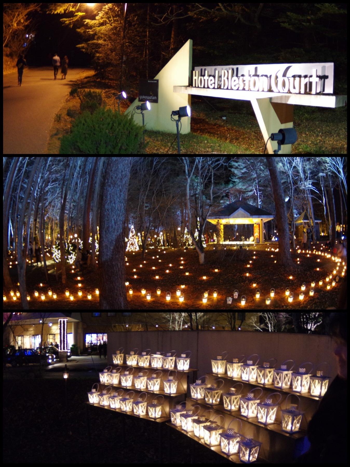 星のや軽井沢 ホテルブレストンコート 軽井沢高原教会 クリスマスキャンドルナイト