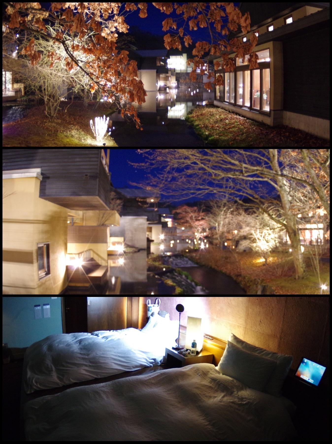 星のや軽井沢 山路地の部屋 宿泊 夜景