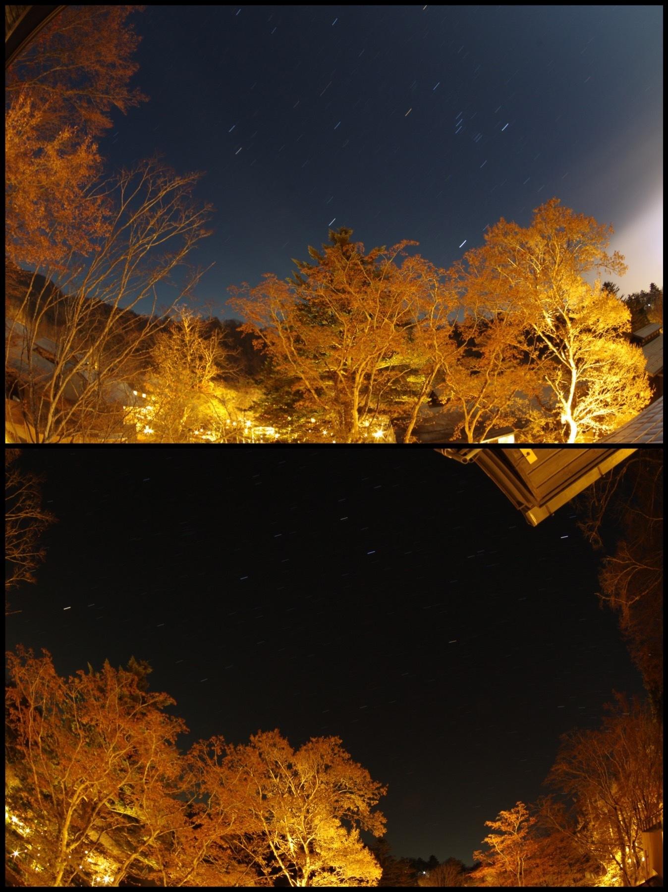 星のや軽井沢 山路地の部屋 宿泊 星空