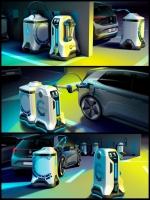 VW 自立型EV充電ロボット