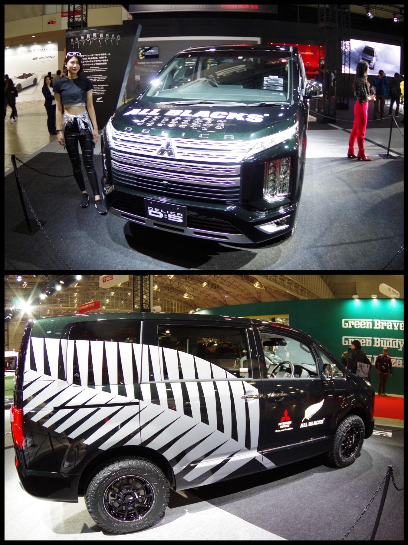 東京オートサロン2020 三菱『デリカD:5』ALL BLACKSサポートカー