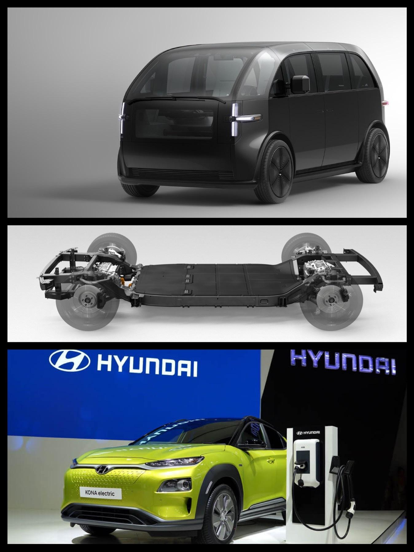 Hyundai canoo 現代自動車 カヌー提携EV