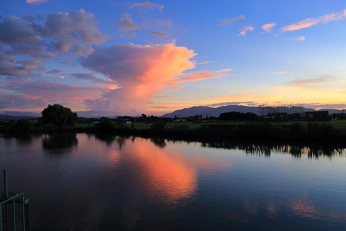 台風一過後の夕焼け1