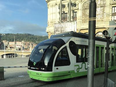 スペイン中東215ビルバオ路面電車