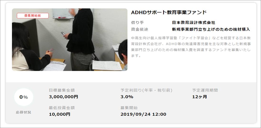 CAMPFIRE_ADHDサポートファンド