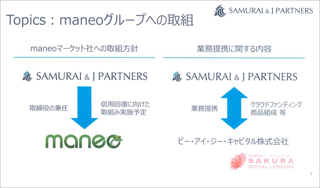 SAMURAIのmaneoグループへの取り組み