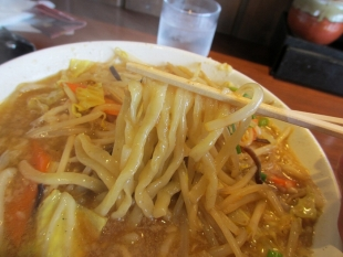 王風珍 味噌ラーメン 麺