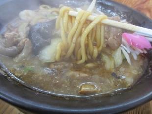 高野 モツ五郎 麺スープ