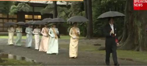 秋篠宮 傘 投げる 動画