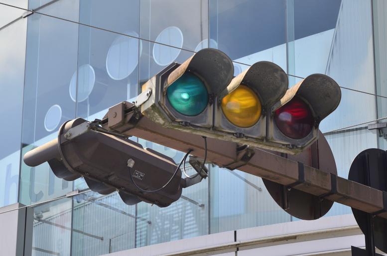 日信・デザイン灯器(八角形) 〈熊本県熊本市中央区・通町〉