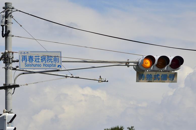 小糸・電材分割YYR/RYR 〈熊本県合志市・再春荘病院前〉