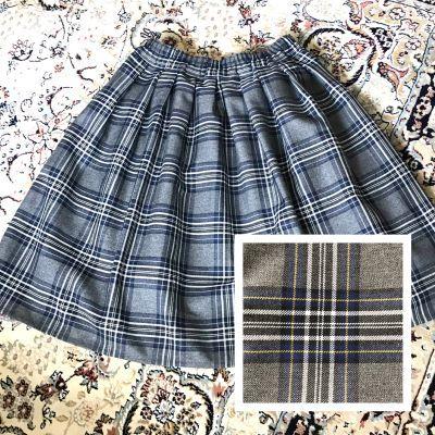 チェックフレアスカート (1)