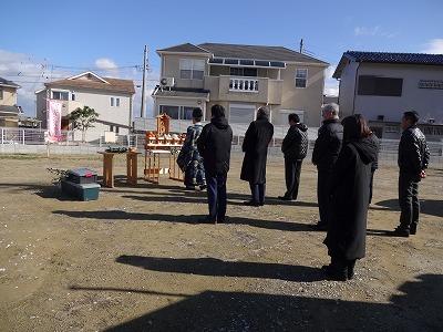熊取町五門東の地鎮祭01