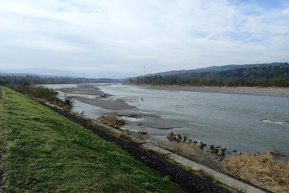 出水後の信濃川