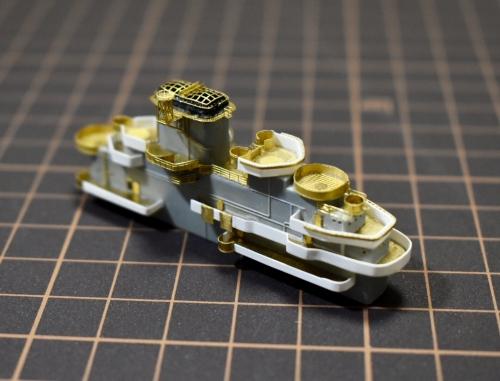 米航空母艦 バンカーヒル(1945年2~3月頃) 艦橋製作中ETohU7rU4AAExNA◆模型製作工房 聖蹟