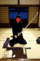 日光江戸村 刀の手入れ2