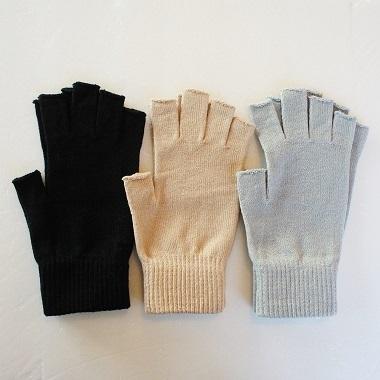金亀糸業・シルクコットン指先フリー手袋1