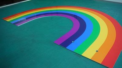 複合板(虹形状カット)