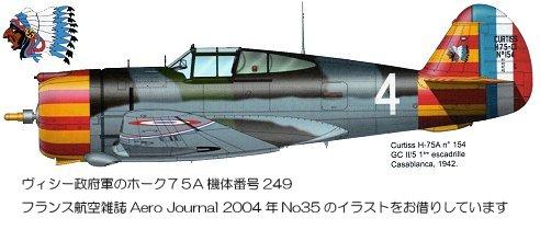 ヴィシー政府軍のホーク75A downsize