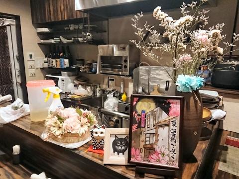店内厨房@小料理咲