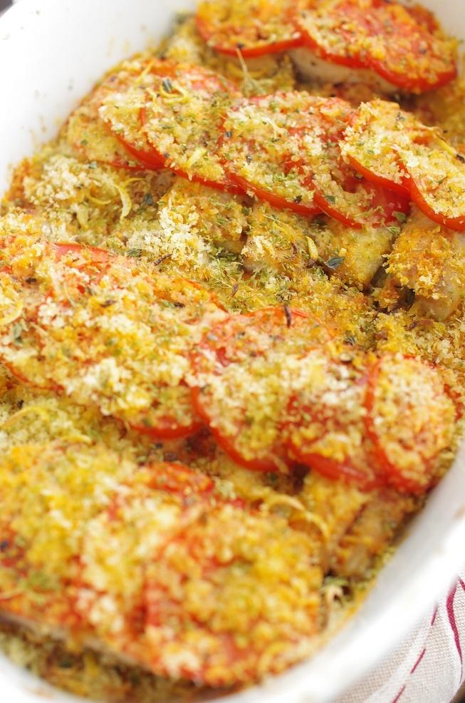 鯵のトマト焼き