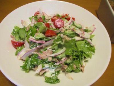 011022自家野菜サラダ