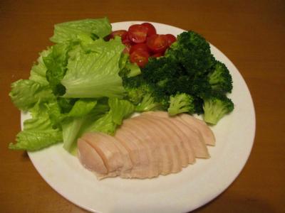 011216鶏ハムと野菜