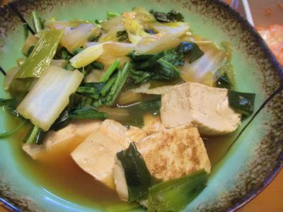 200110野菜と焼き豆腐煮