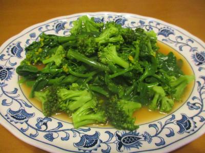 200119アスパラ菜とブロッコリーの辛子醤油和え