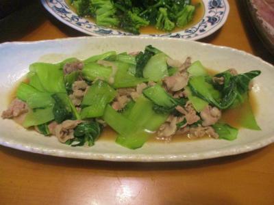200119青梗菜と豚肉のオイスターソース炒め