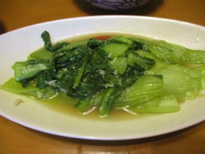 200126青梗菜のニンニク醤油炒め