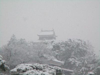200206雪に覆われる松江城