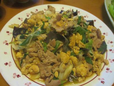 200209卵・豚肉・ネギ・きくらげの中華