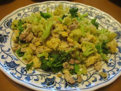 200315カリフローレと卵の炒め物