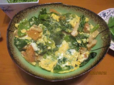 200329高菜の卵とじ