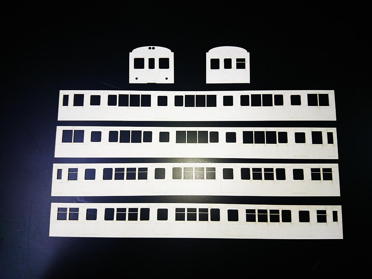 鉄道模型 HOゲージ ペーパー車体切抜き
