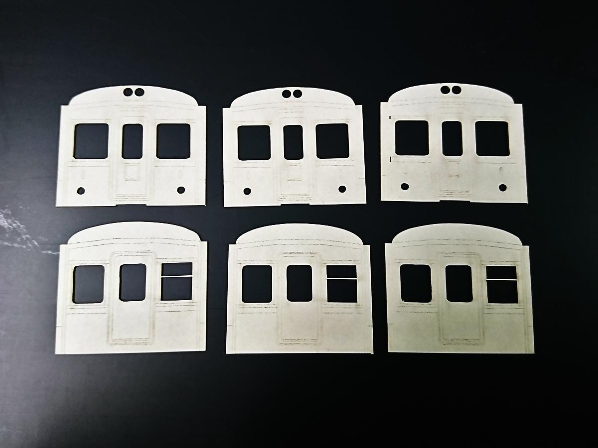 鉄道模型 HOゲージ ペーパー車体 顔切抜き