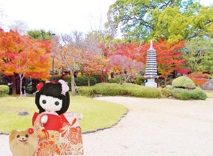 東漸寺の美しい紅葉です