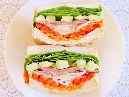 初紙巻きサンドイッチ