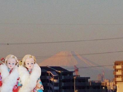 朝焼けの富士山です2020