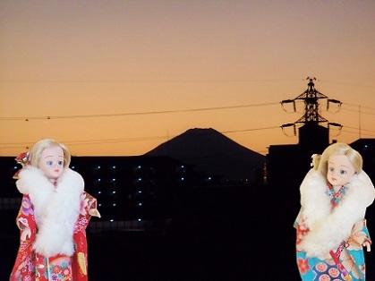 富士山の夕暮れ 2020a
