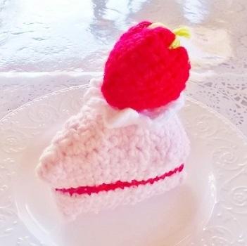 編み編み 苺のケーキ1