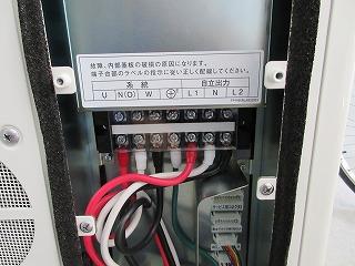 ④電気配線接続