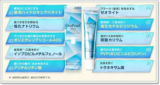 歯の黄ばみ汚れ・歯周病・口臭・視覚過敏症状予防!口腔トータルケアができる薬用歯みがき【オーラパールプラス】効果・口コミ。